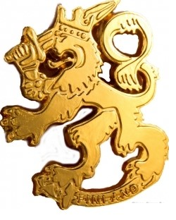 Metal magnet Finnish Lion