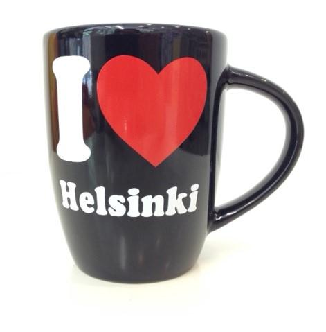 Souvenir ceramic mug - I love Helsinki
