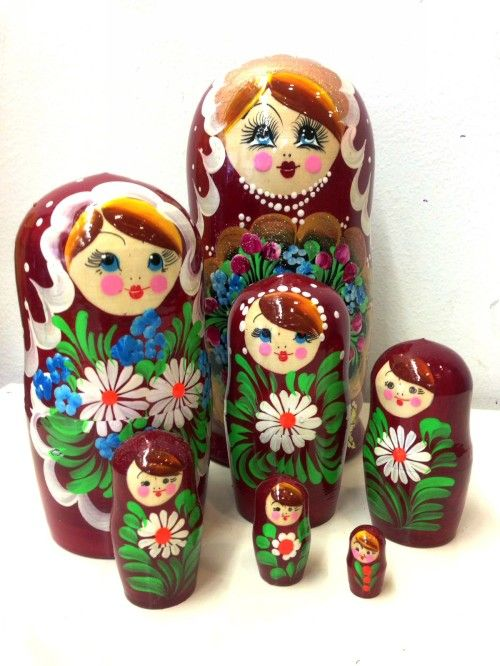 Matreshka Matryoshka (Nesting doll) Flowers 7 items (art. 141)