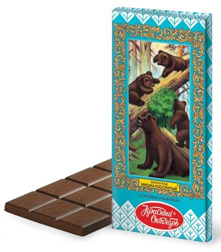 """Шоколад с орехами и вафлями """"Мишка косолапый"""" - 75 г"""