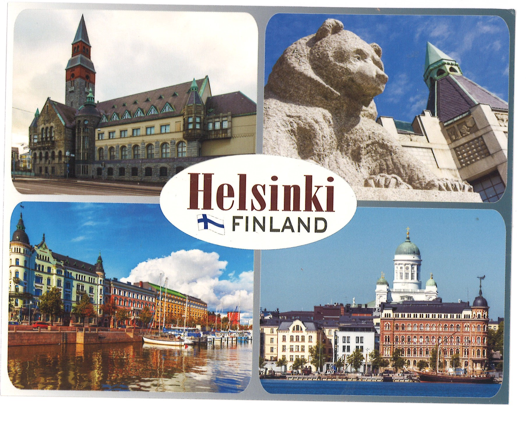 Postcard collage Helsinki/ Finland