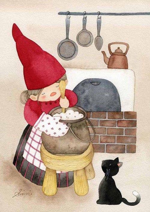 Postcard: Christmas card: The Best Porridge