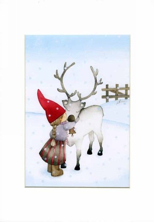Postcard: Christmas card: Winter Kiss BIG