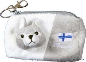 Plush wallet Husky dog