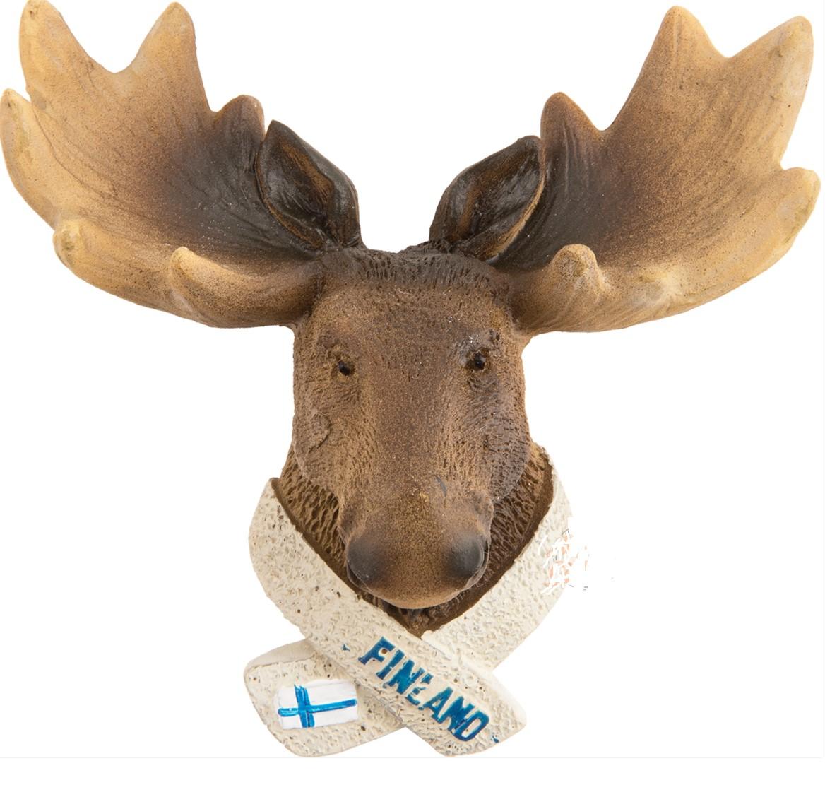 Ceramic magnet Moose head Finland