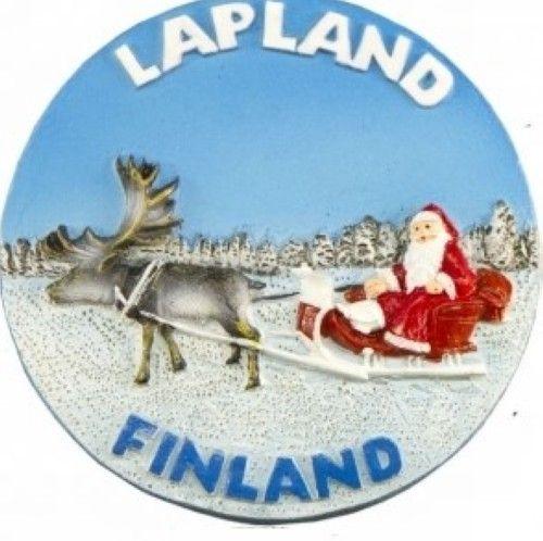 Magnetic ceramic round - Santa Claus