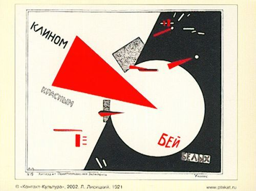 Postcard: Beat the Whites with the red wedge!