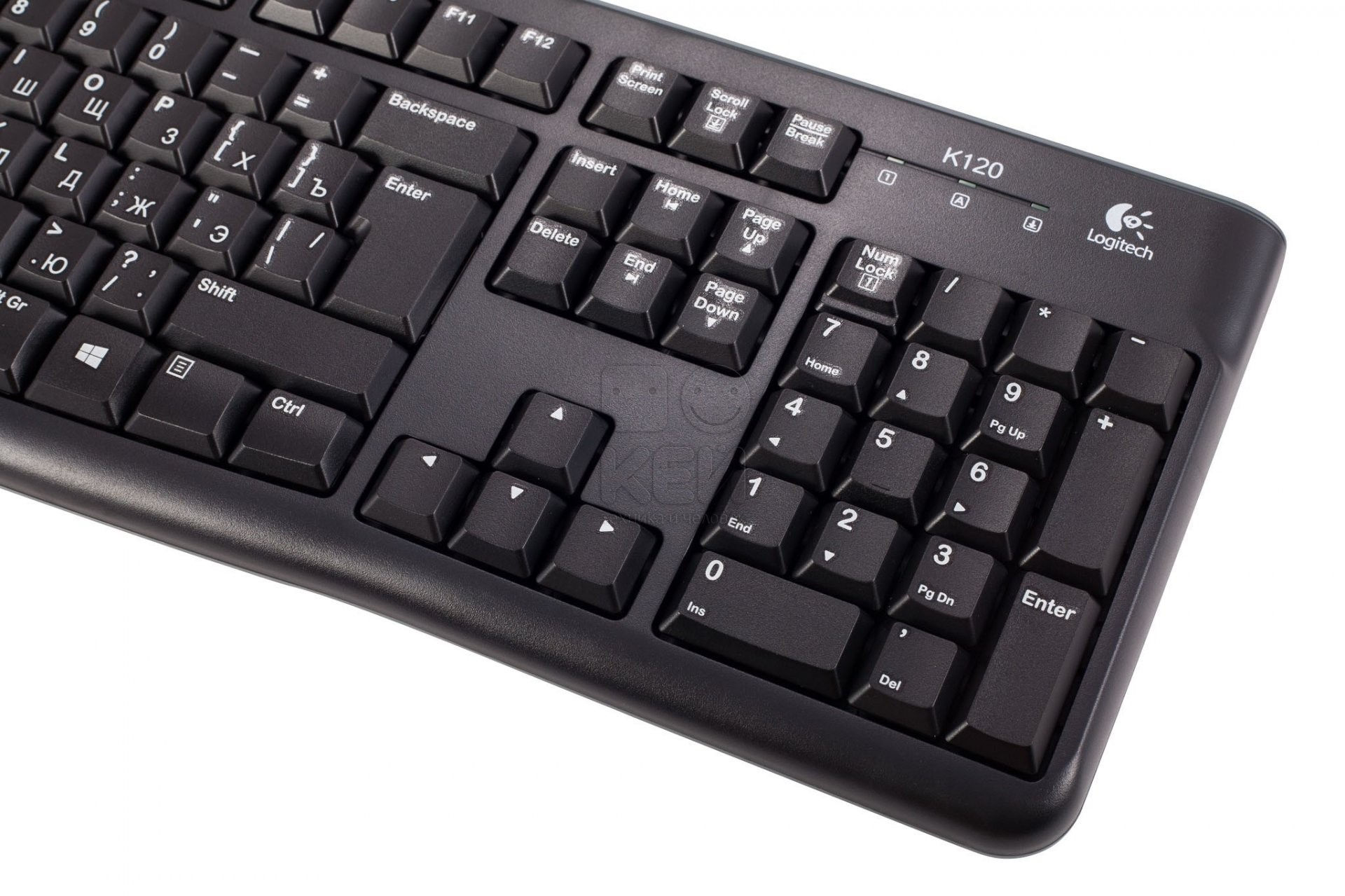 Wired Multimedia Keyboard Logitech K120 EN/RUS, USB